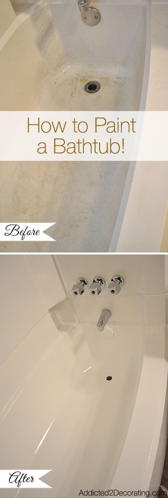 DIY Money Saving Home Repairs • Tutorials, including how to paint a bathtub from 'Addicted 2 Decorating'.