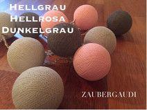 ⭐️ hellrosa,hellgrau,dunkelgrau Lichterkette 20...