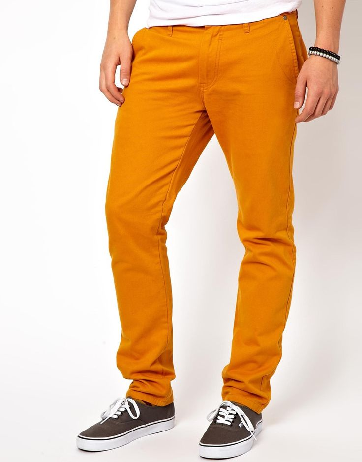 $41, Mustard Chinos: !Solid Solid Slim Fit Chinos. Sold by Asos. Click for more info: http://lookastic.com/men/shop_items/95952/redirect