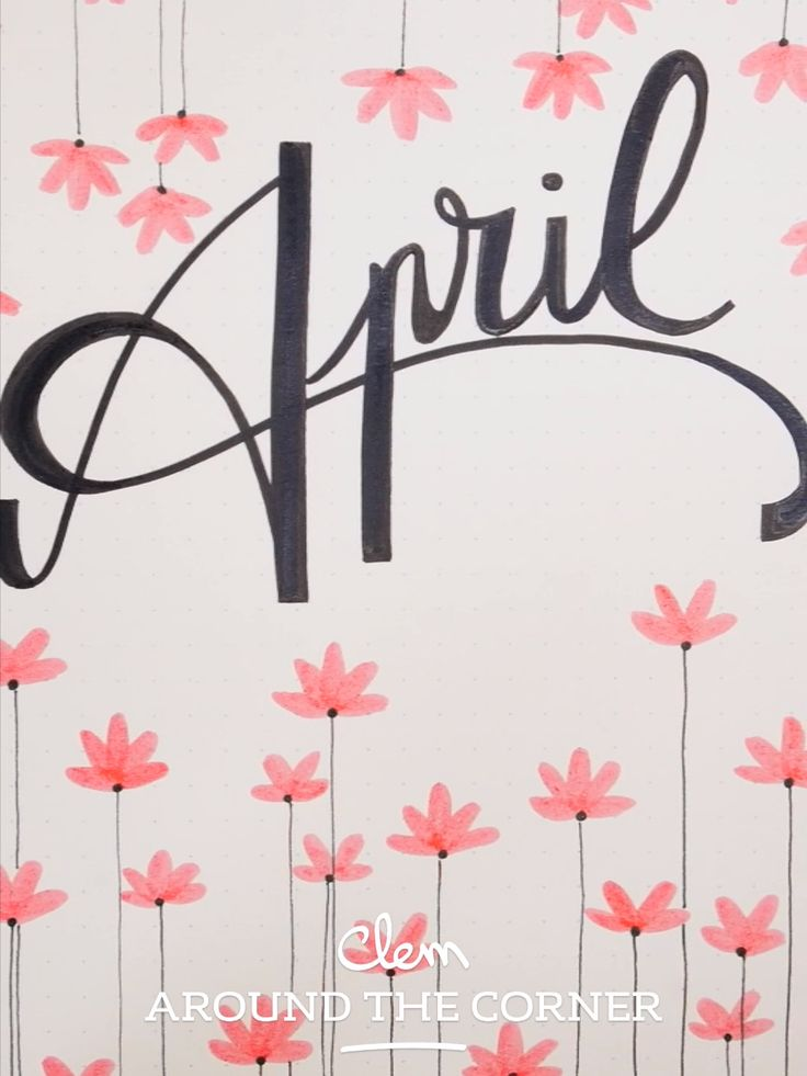 BUJO – Monthly Cover : April – Graphic Spring Inspiration
