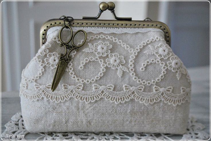 Vintage purse with lace