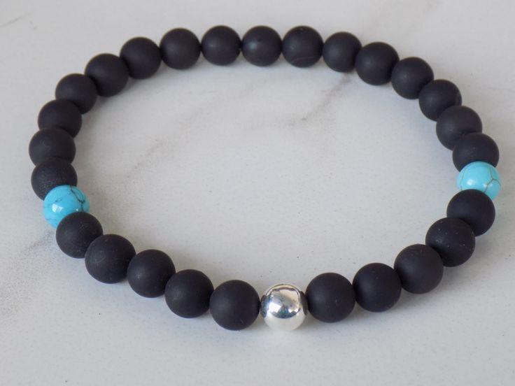 4MEN- Trendy black onyx or black lava beads 8mm bracelet with Swarovski faceted crystal skull. #4men https://www.etsy.com/listing/215178032/4men-trendy-black-onyx-or-black-lava?ref=shop_home_active_5