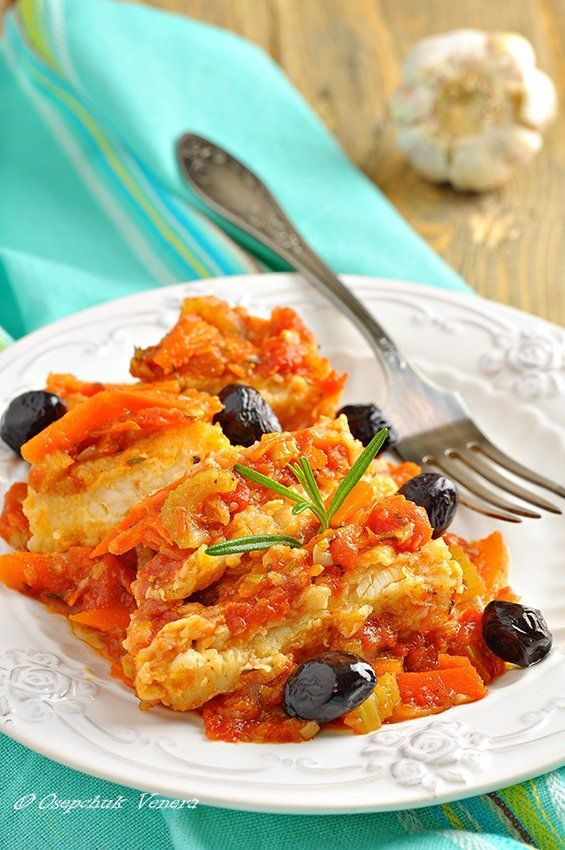 Рыба с овощами. Вкусно и в горячем, и в холодном виде! Что нужно: Оливковое масло - 4 ст. л. (для обжаривания овощей) Оливковое масло - для обжаривания рыбы, Филе белой рыбы (у меня…
