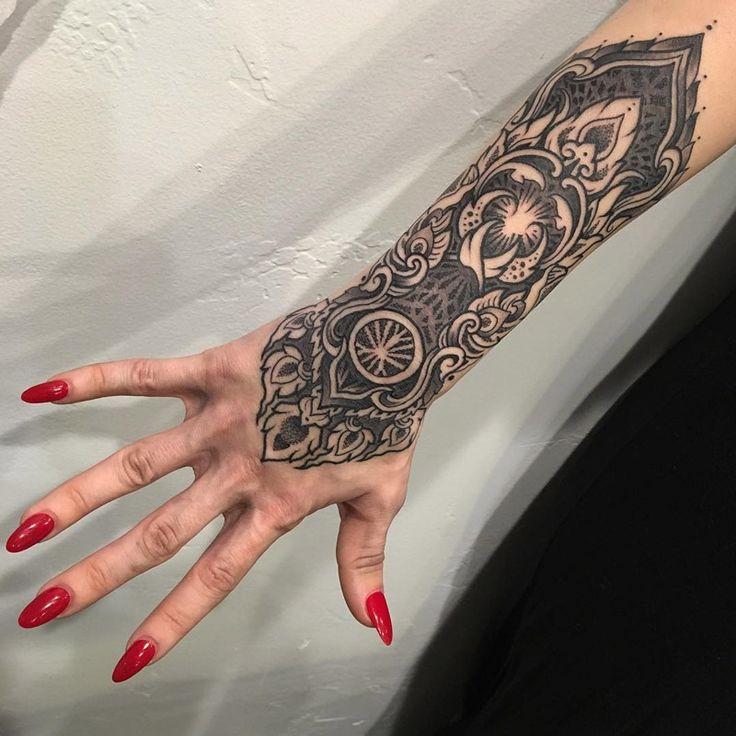 Ornamental Bracelet Tattoo On The Left Wrist Tattoo: 225 Best Images About On Pinterest