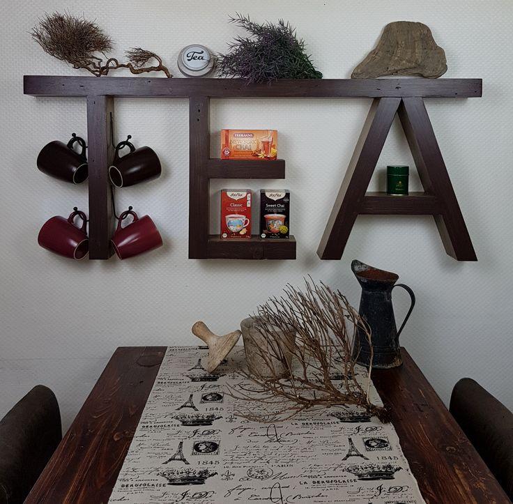 Regal TEA Upcycling  Großes dekoratives TEA Regal, der neue Hingucker in deiner Küche.  Dieses Regal kannst du dekorativ in Szene setzen.Küche, Esszimmer, Wohnung, Deko, Regal, braun, Holz, upcycling, Tee, Tea, schön, dekorieren, Dekoration, selbstgemacht,Küche, Esszimmer, Wohnung, Deko, Regal, braun, Holz, upcycling, Tee, Tea, schön, dekorieren, Dekoration, selbstgemacht, DIY, Handmade,