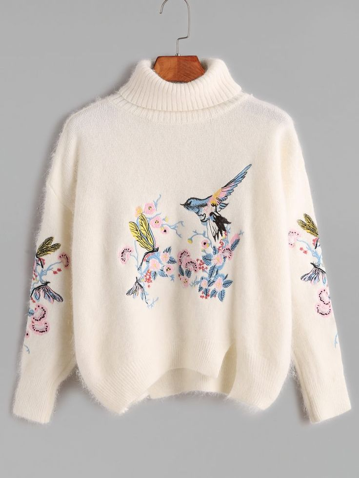 A nice list of some oversized sweaters and cardigans. This is one of my favourites: embroider sweater.