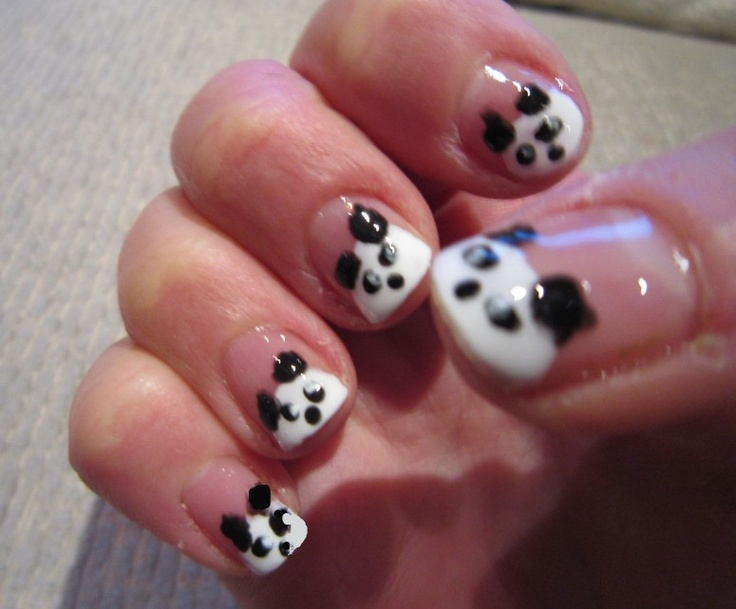 25 best black nail designs images on pinterest nail designs black nail designs panda black and white nail art design nail colors inspiration prinsesfo Gallery