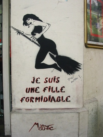 #streetart #misstic  Miss.Tic on Paris' Wall photos on Fotopedia