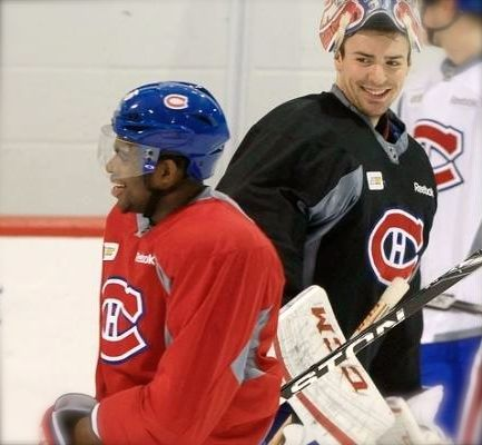 P. K. Subban and Carey Price. Happy Habs.