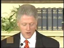 Bill Clinton, the 42nd President of the United States, was impeached by the House of Representatives on two charges, one of perjury and one of obstruction of justice, on December 19, 1998. Two other impeachment articles, a second perjury charge and a charge of abuse of power, failed in the House. He was acquitted of both charges by the Senate on February 12, 1999