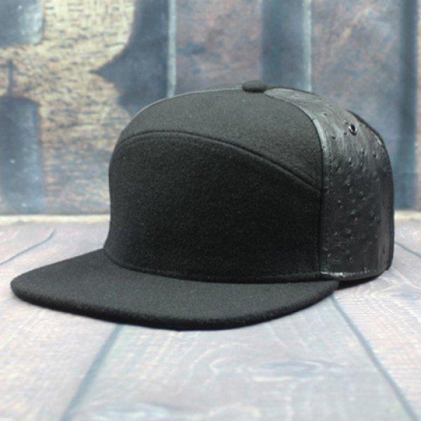 Stylish Two PU Sides Embellished Men's Felt Baseball Cap #CLICK! #clothing, #shoes, #jewelry, #women, #men
