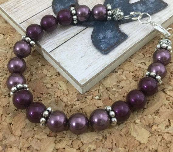 Swarovski+Burgundy+and+Blackberry+Pearl+by+JewelryByDonnaMarie