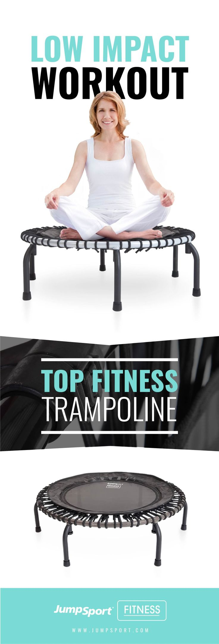 Jumpsport fitness trampolines. Putting the fun in fitness! Visit: https://www.jumpsport.com/fitness/ Jump into a new you with the most fun workout you'll find on a fitness trampoline. Thousands of bouncers use JumpSport Fitness Trampolines in professional clubs and at home. #jumpsport