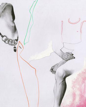 Richard Kilroy. Anne Demeulemeester study #fashion #illustration