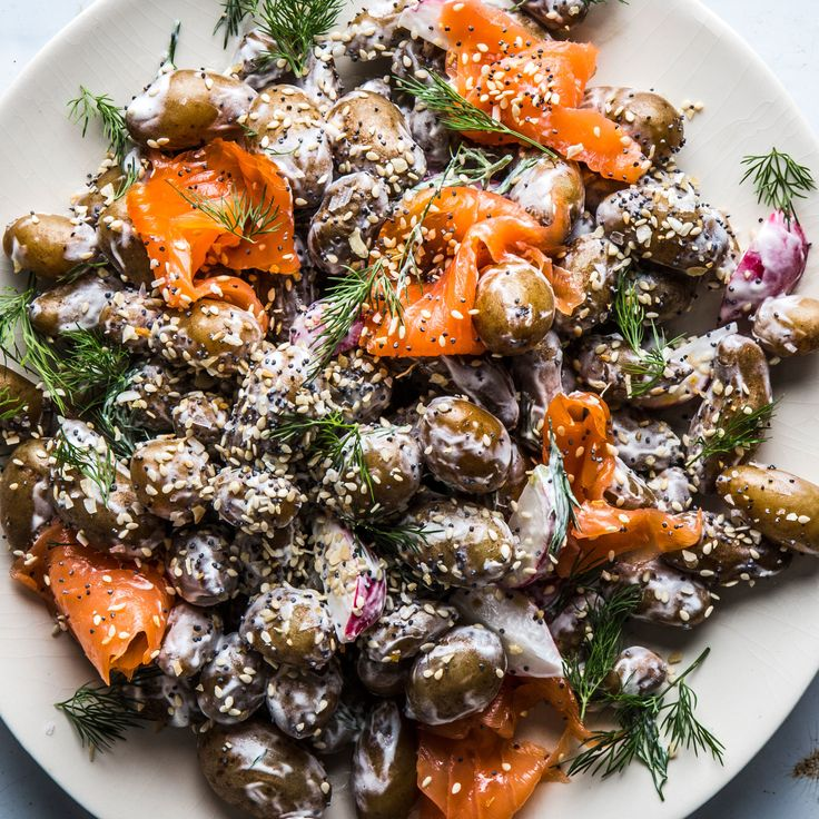 Potato Salad with Lox and Everything Bagel Spice - Bon Appétit