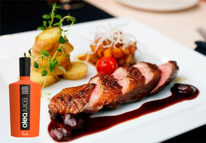 Fillet with potatoes made with Olea Juice olive oil...Simply delicious!