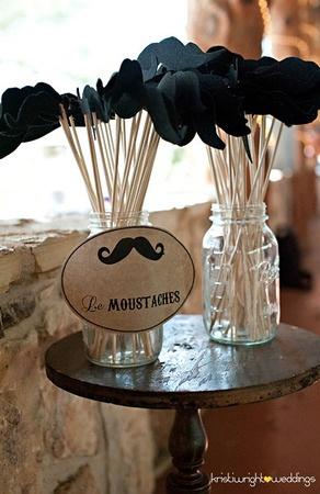 photobooth - moustache en feutrine