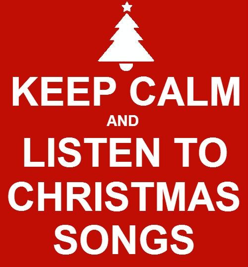 Keep calm and listen to Christmas songs #ABeginnersGuideToChristmas #ChristmasTips #Festive