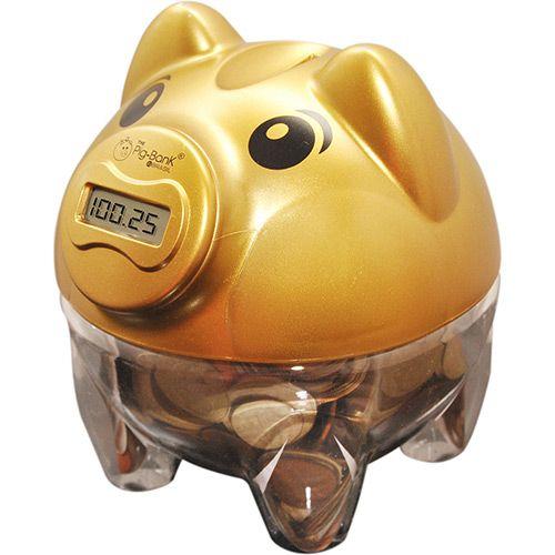 Cofre Contador de Moedas Pig Bank Dourado - In Brasil - Submarino.com