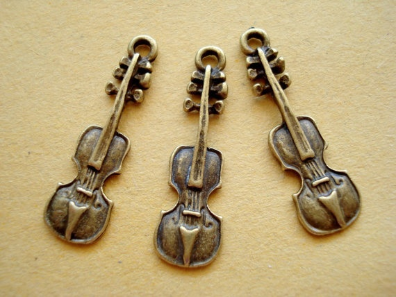 20pcs 24x7mm VIOLIN charms/pendant /Antiqued Bronze by yooounique, $2.99