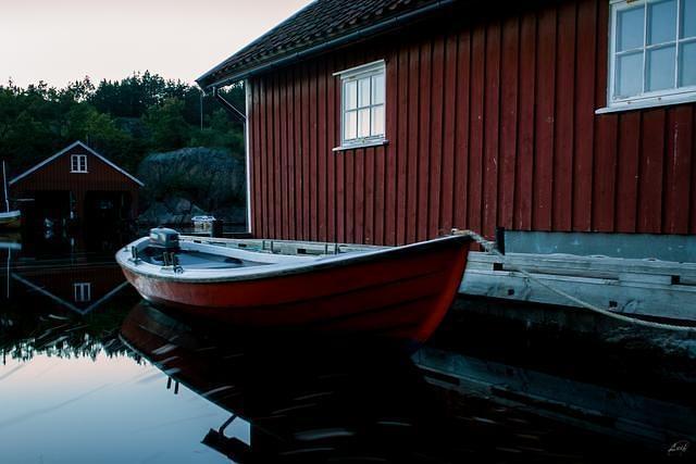 Fishing boat Mandal Norway