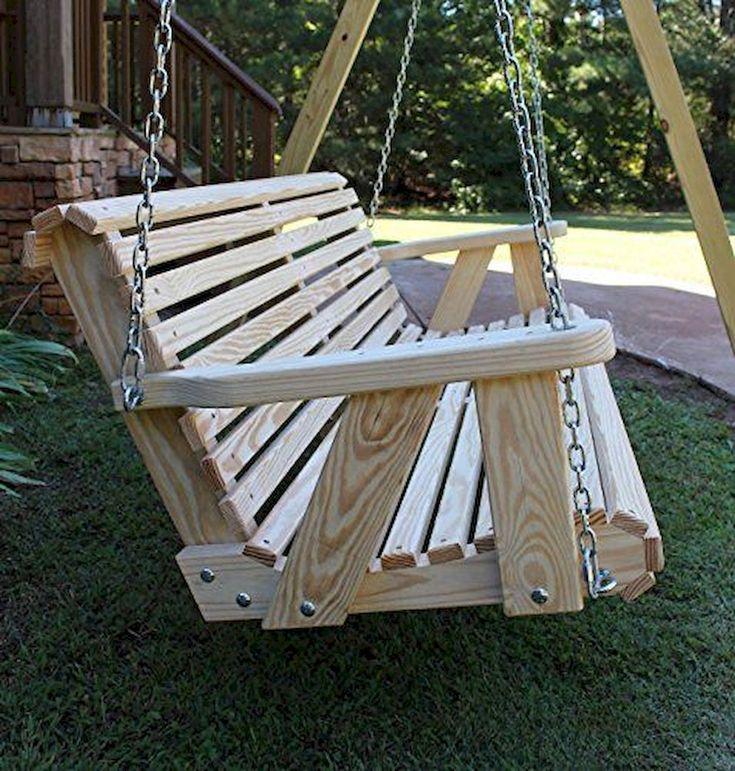 wooden swing chair outdoor