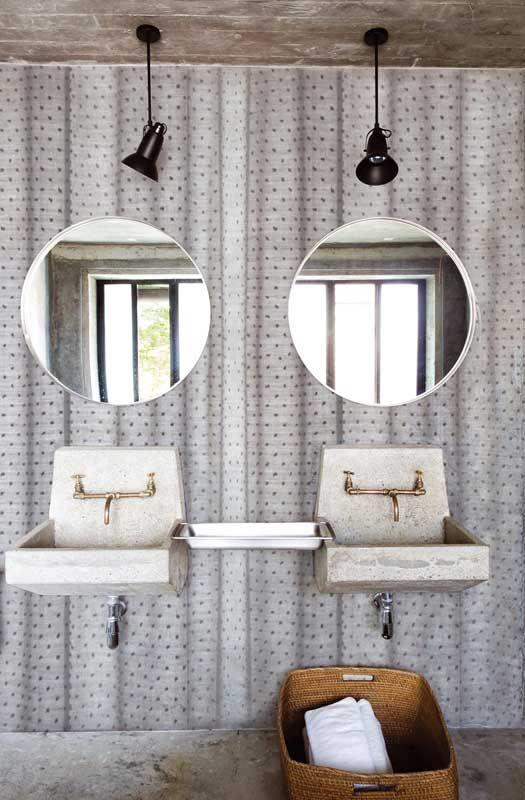 carte da parati di design per il bagno