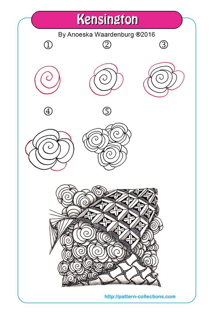 Kensington tangle pattern Anoeska Waardenburg PatternCollections.com                                                                                                                                                     More