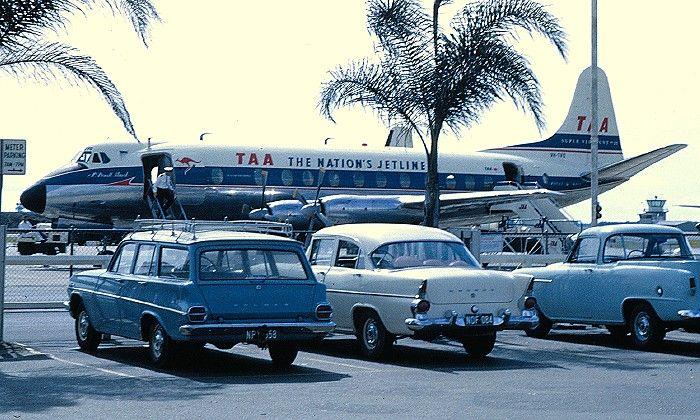 VH-TVQ Vickers Viscount possibly at Brisbane (igloo) terminal