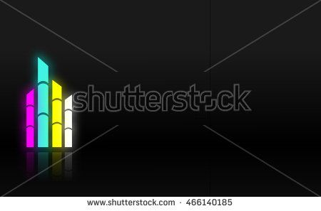 Black background with bamboo lamp