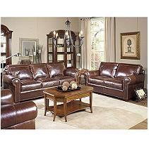 Ashland Vintage Leather Craftsman Living Room 3-Piece Set