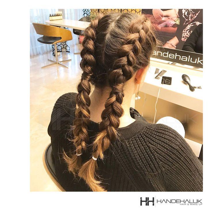 Pazar gününün sportif enerjisine örgülerin ile eşlik et!  #HandeHaluk #ulus #zorlucenter #sacorgumodeli #hairlife #hairideas