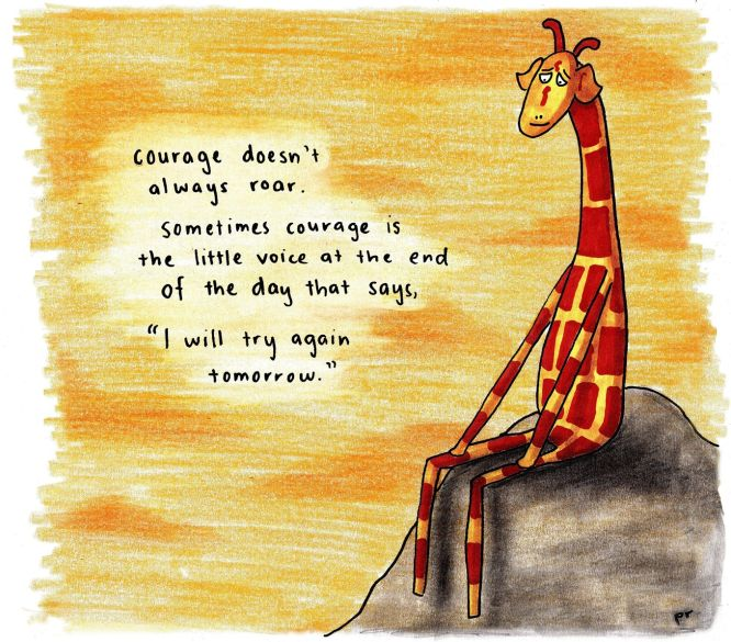 (Quote by Mary Anne Radmacher) Loving quotes at the moment! If you have a favourite encouraging or inspirational quote that you'd like to see giraffe'd, drop it in the comments and I might give it ...