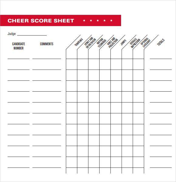 basic cheerleading tryout score sheet cheer Cheerleading tryouts