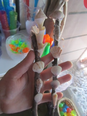 Shell wands, Gem wands, Magic wands and detailsHoliday Hop, Beach Fun, Montessori Mom, Mom Holiday, Details, Caution, Shells Wands, Magic Wands, Gem Wands