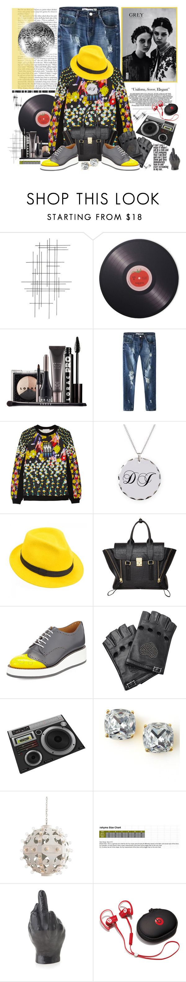 """""""Hey DJ... You Ready to Party, Right?"""" by holjon2110 ❤ liked on Polyvore featuring Crate and Barrel, Joseph Joseph, LORAC, Prada, Peter Pilotto, Mademoiselle Slassi, 3.1 Phillip Lim, The Office Of Angela Scott, Valentino and Jimmy Choo"""