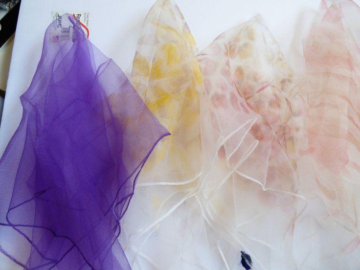 VTG lot of 5 Nylon made in Japan Sheer Multi color Patels floral scarf   eBay