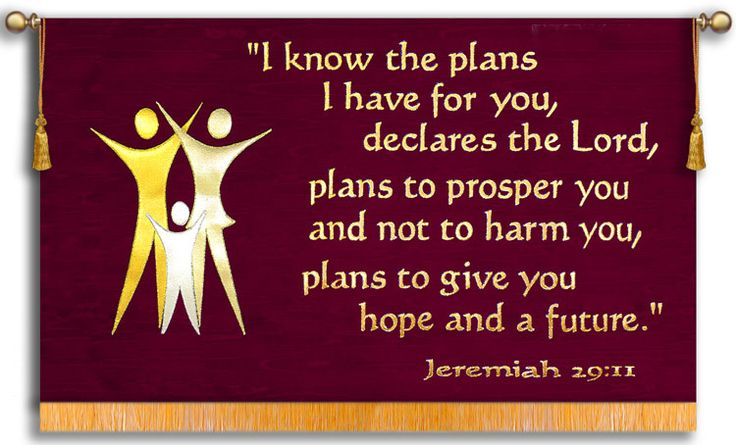 I Know The Plans - Jeremiah 29:11 - Horizontal Praise Banner