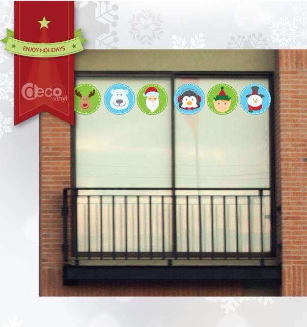 Vinilos Decorativos Ref: Iconos Navidad