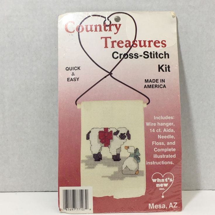 Country Treasures Counted Cross Stitch Kit  What's New Quick & Easy Lamb Duck #WhatsNewInc #Sampler