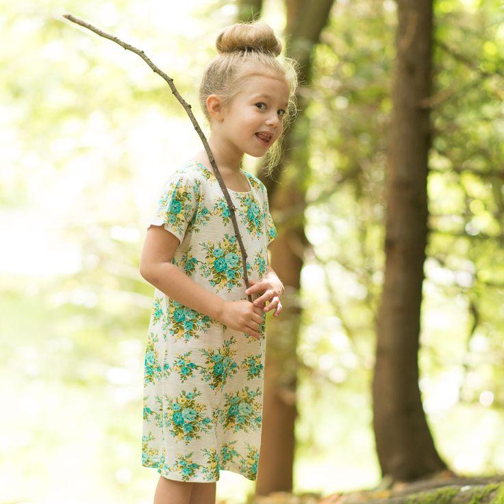Curiosity, in the Little Buds T-shirt Dress.