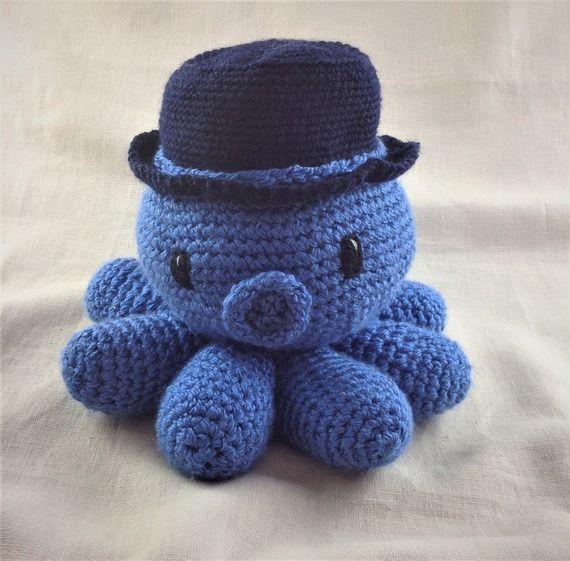 Poulpe géant bleu au crochet