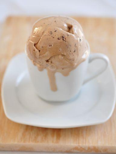 Glace au café, sans sorbetière - Recette de cuisine Marmiton : une recette