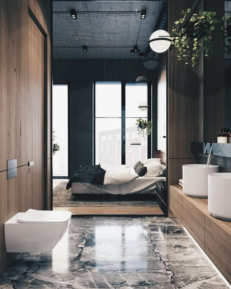 """8,445 Likes, 41 Comments - ALL OF ARCHITECTURE (@allofarchitecture) on Instagram: """"Bathroom goals in the morning #allofarchitecture Cozy Loft by ONI Architects via @artsytecture"""""""