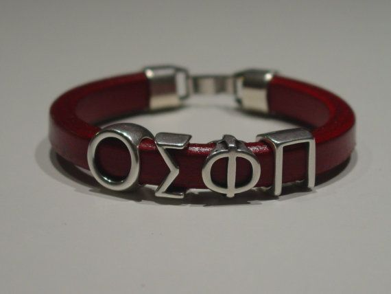 Olympiakos Red Leather Handmade Mens Bracelet Greek by LindosArt