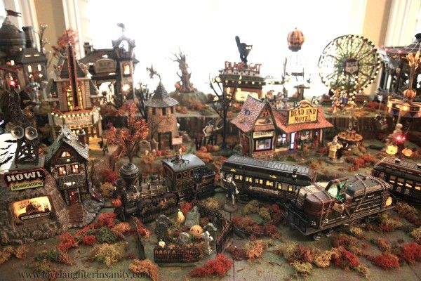 Halloween Village – Department 56 Display – Love, Laughter, and a Touch of Insanity