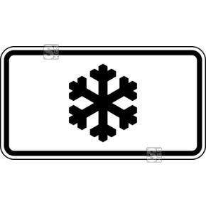 """Verkehrszeichen """"Schneeflocke"""" – Vorsicht nicht nur bei Schnee  #Geschwindigkeitsbegrenzung #Verkehrsschilder #Verkehrszeichen #Winterschild"""