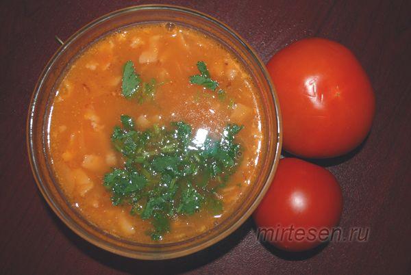 Овощной томатный суп пюре