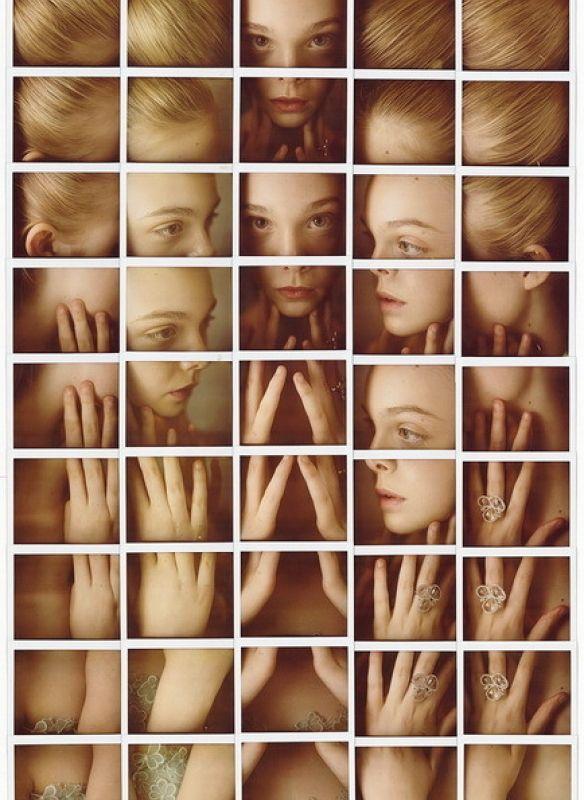 Celebridades em mosaicos de Polaroids por Maurizio Galimberti