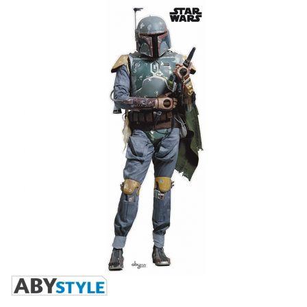 STAR WARS Sticker Star Wars Bobafett Echelle 1